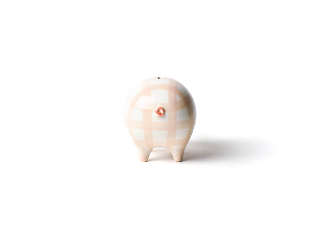 Pink Gingham Piggy Bank