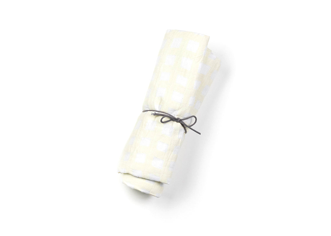 Ecru Gingham Swaddle