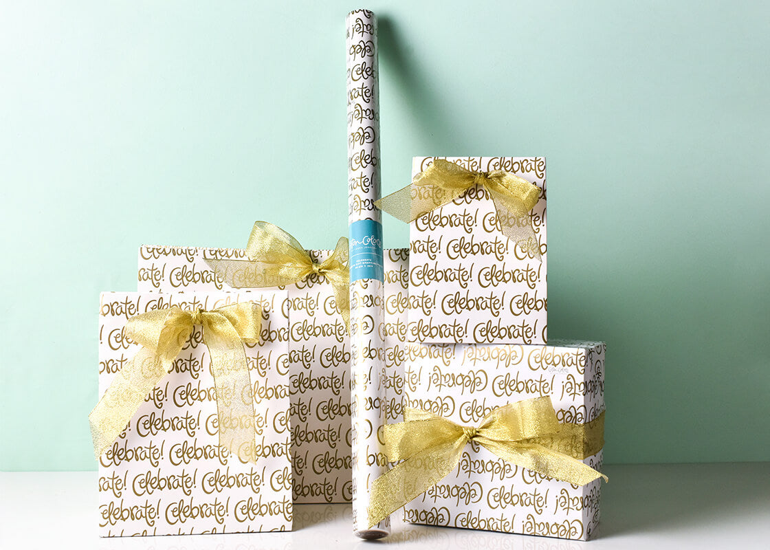 Celebrate Gift Wrapping Paper, 3 Sheets