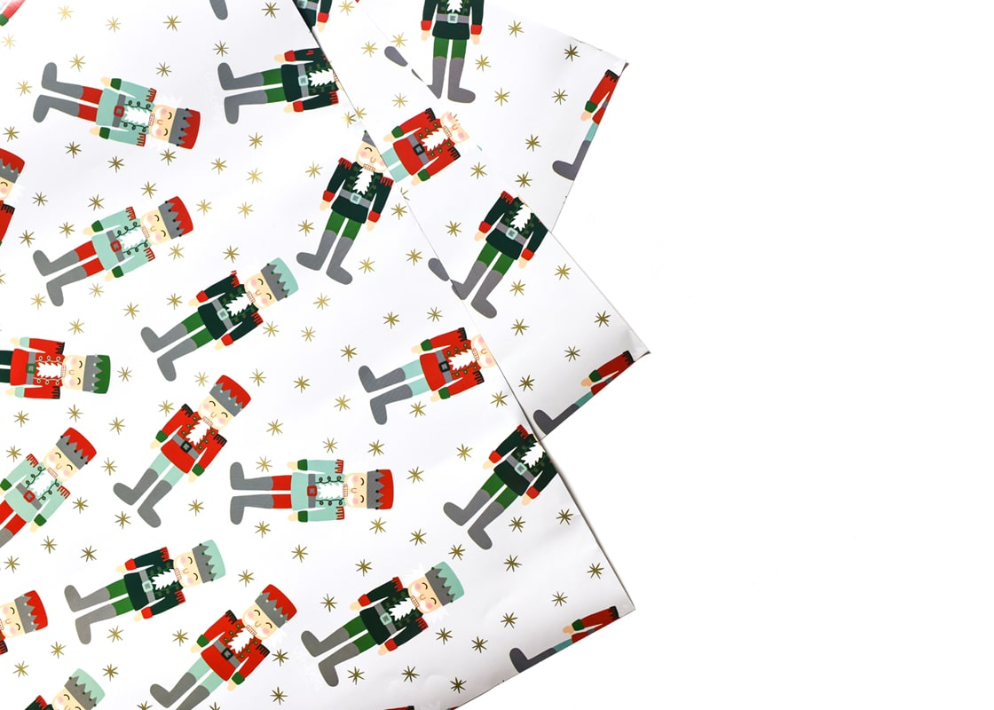 Nutcracker Gift Wrapping Paper, 3 Sheets