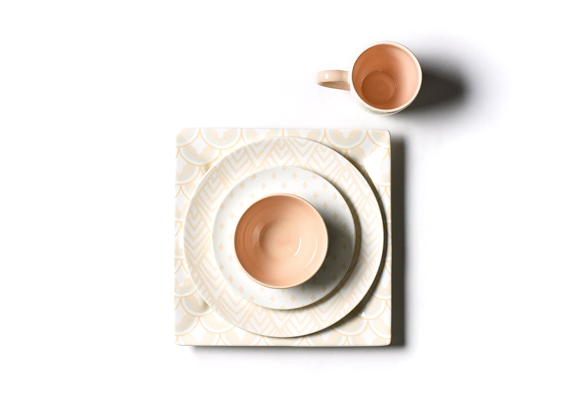 Blush Layered Arabesque Square Platter