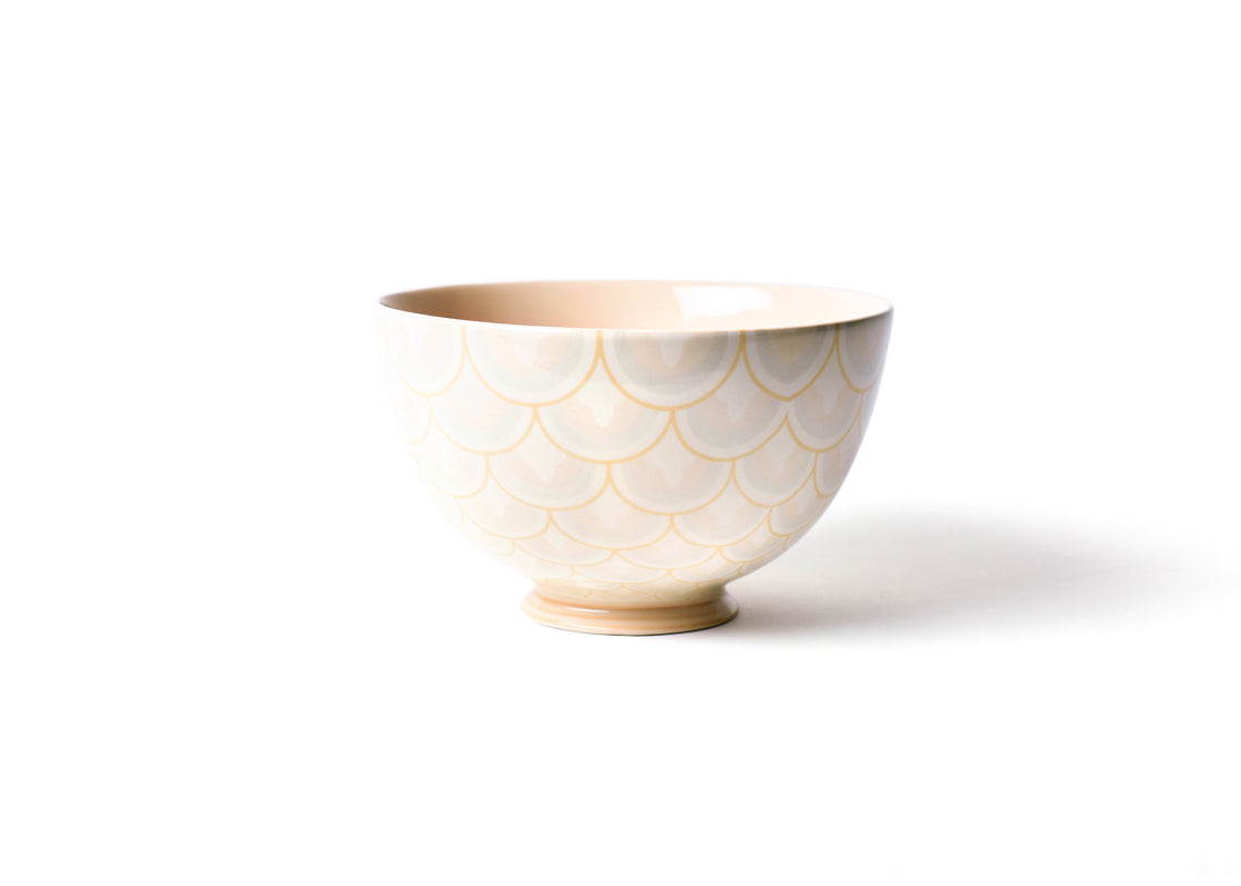 "Blush Layered Arabesque 9"" Footed Bowl"