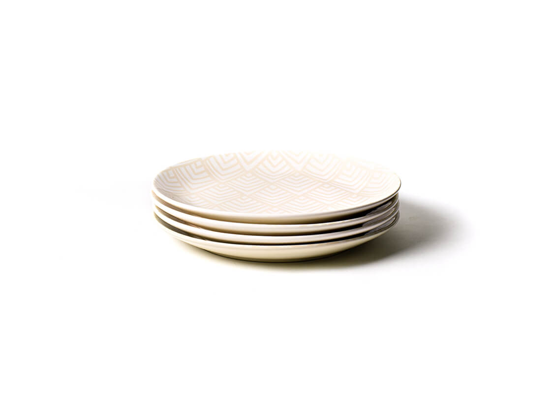 Blush Layered Diamond Dinner Plate, Set of 4