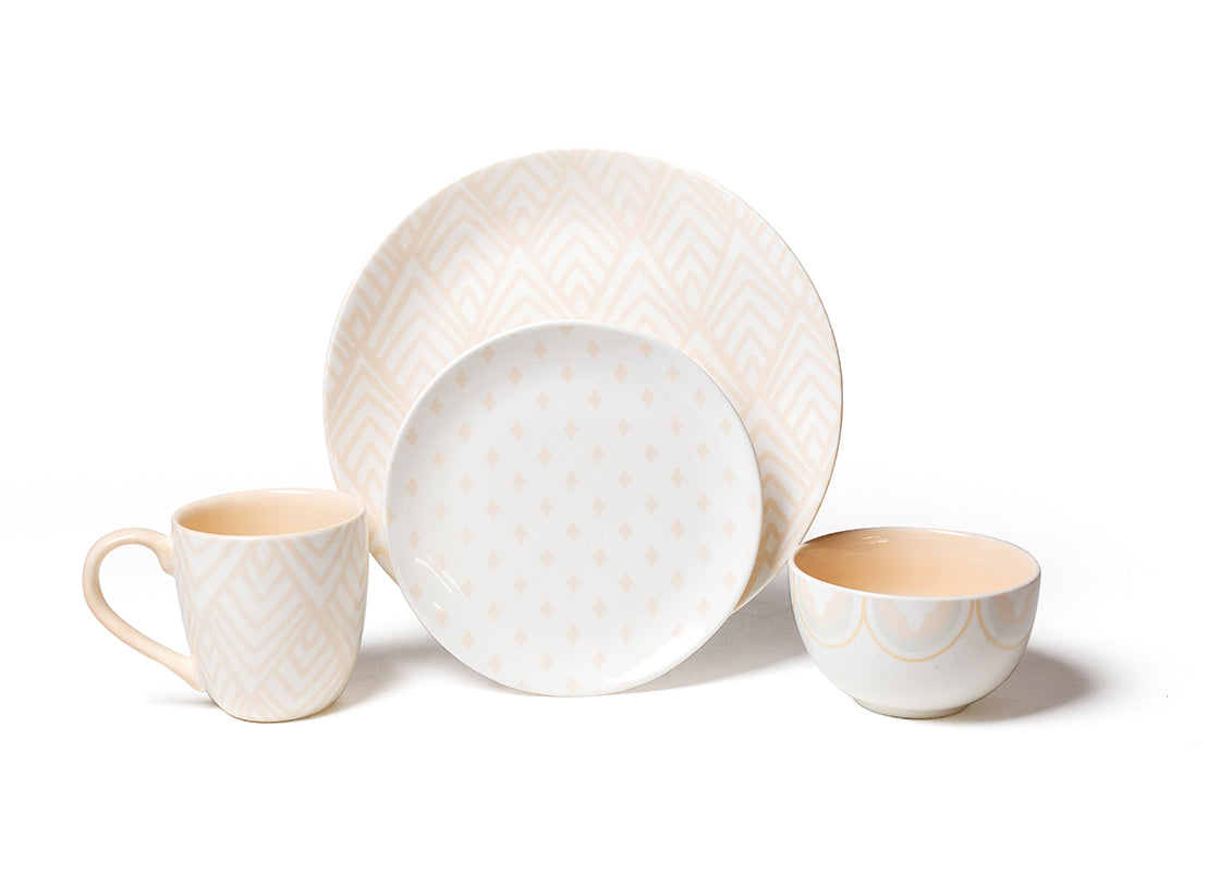Layered Diamond 4 Piece Place Setting