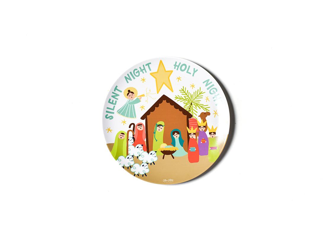 Christmas Nativity Melamine Dinner Plate