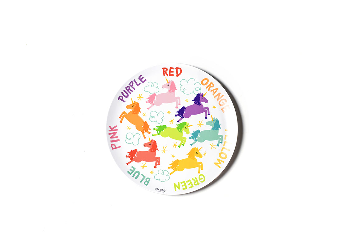 Unicorn Colors Melamine Dinner Plate
