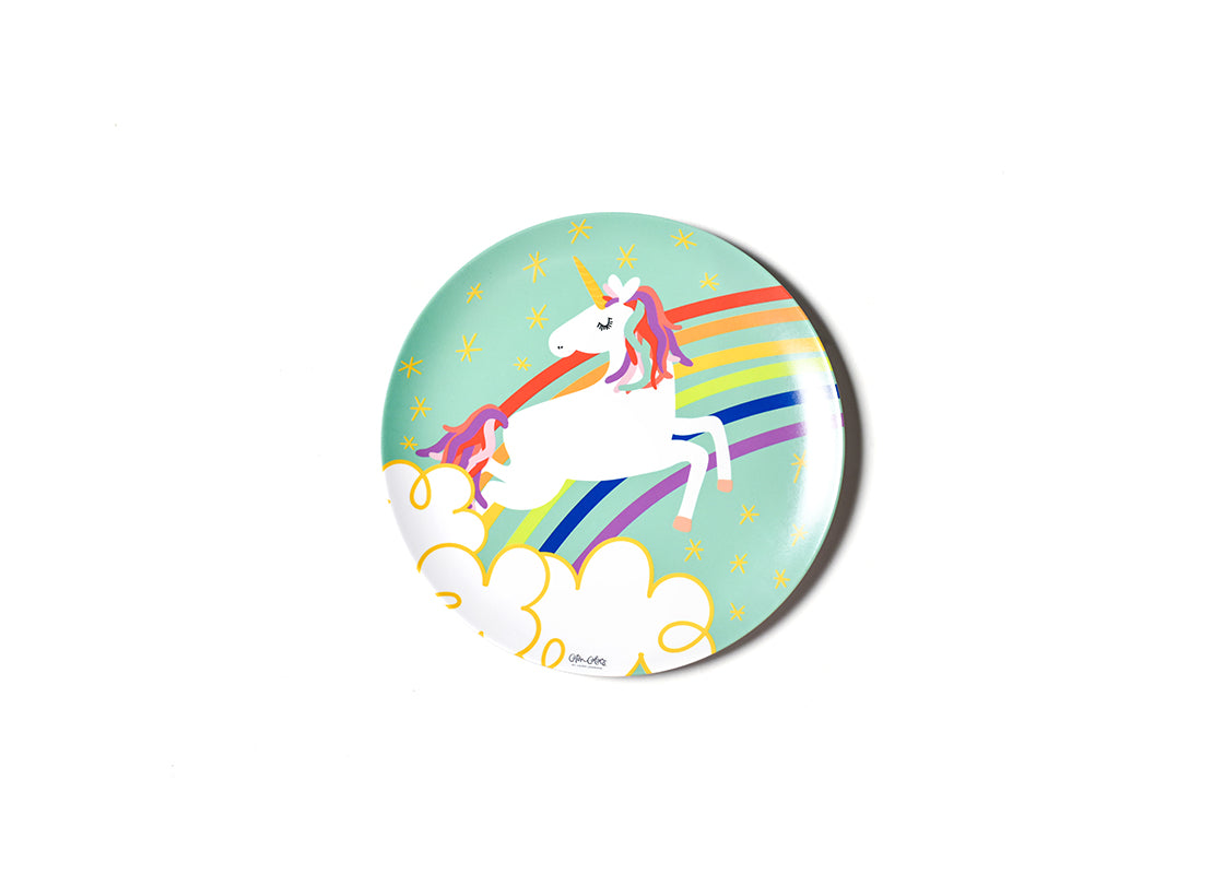 Unicorn Rainbow Melamine Dinner Plate