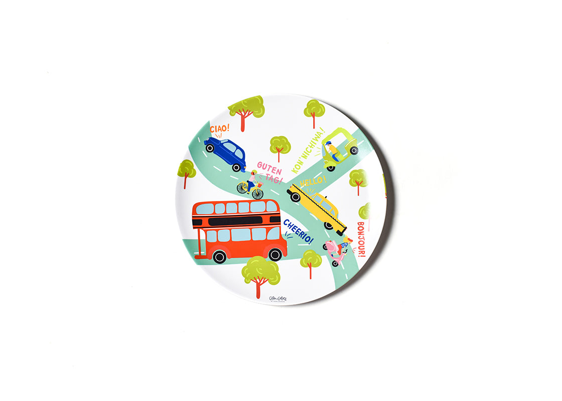 Around The World Cars Melamine Dinner Plate