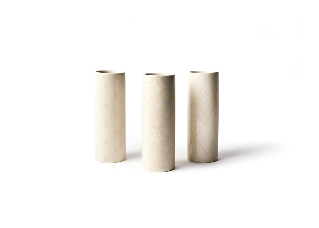 Blush Tube Vases, Set of 3