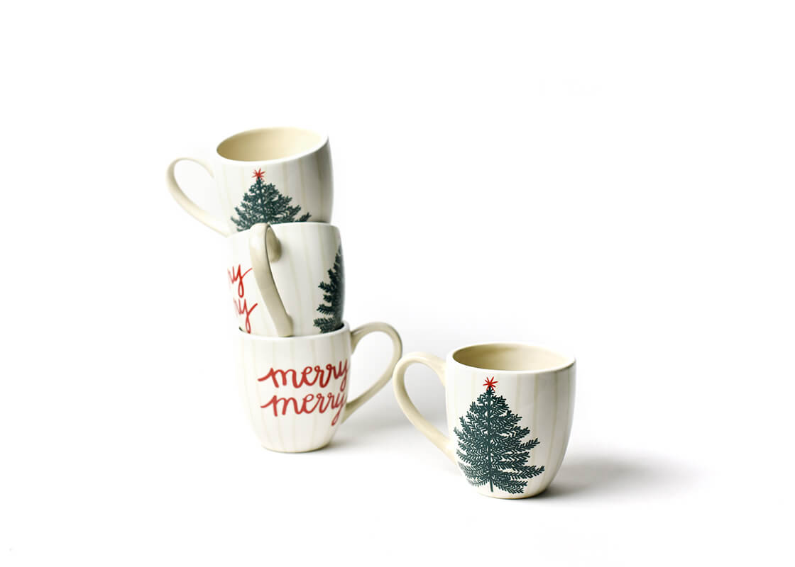 Merry Tree Mug, Set of 4
