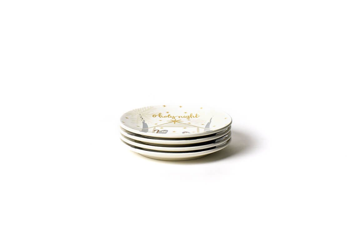 Neutral Nativity Salad Plate, Set of 4