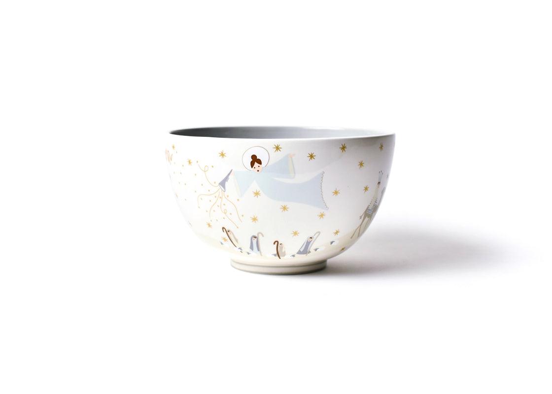 "Neutral Nativity 9"" Footed Bowl"