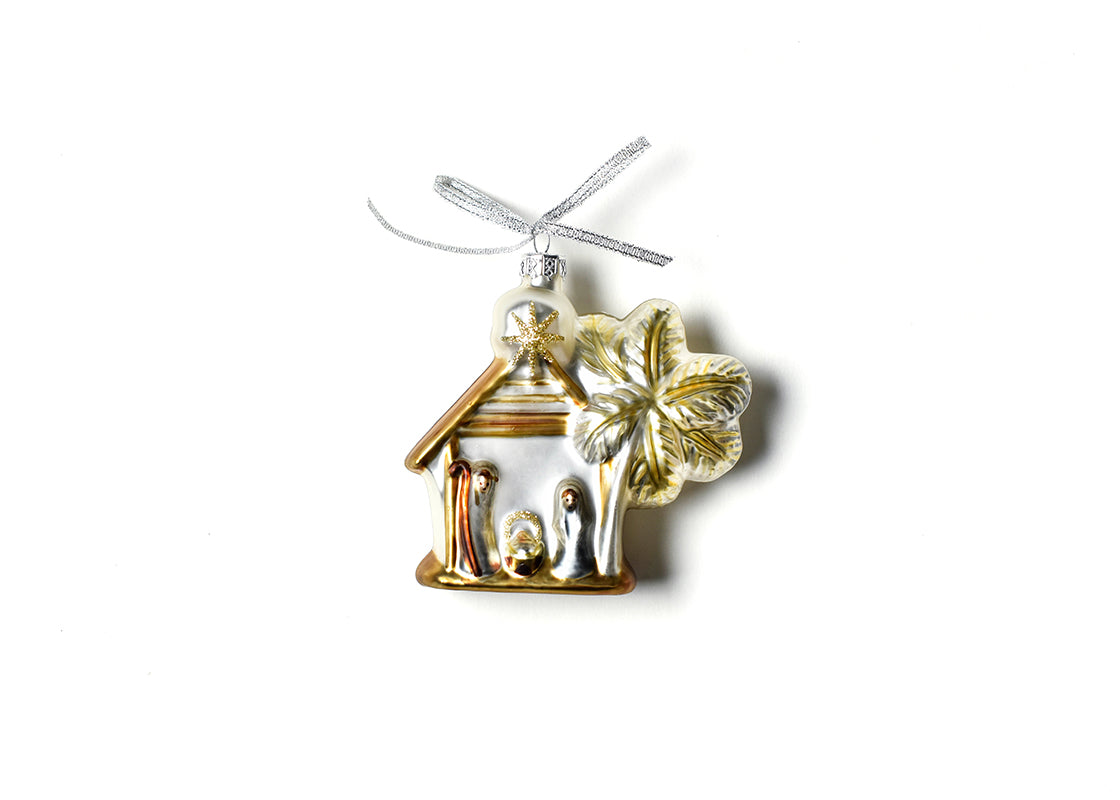 Neutral Nativity Shaped Ornament - Manger