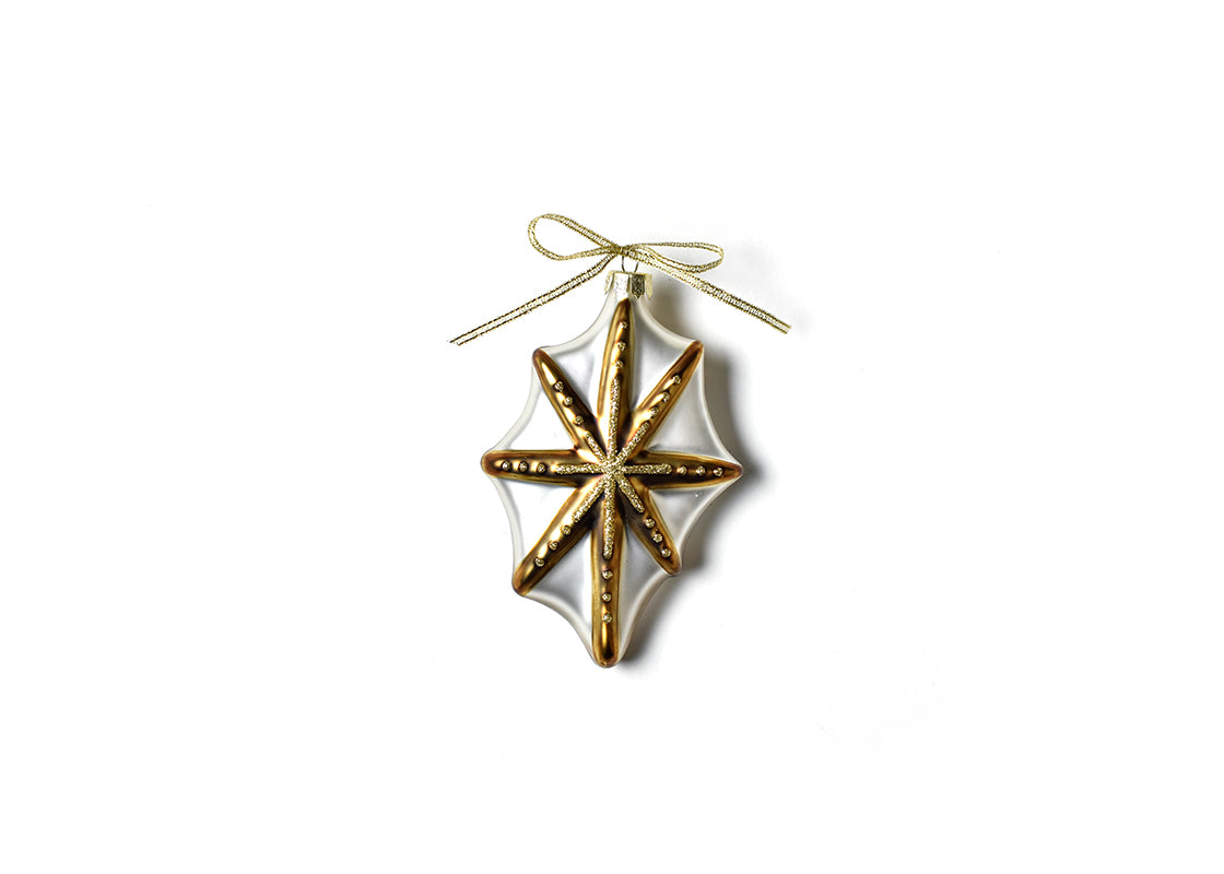 Neutral Nativity Shaped Ornament - Gold Star