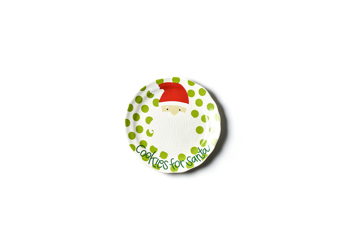 North Pole Cookies For Santa Curved Plate