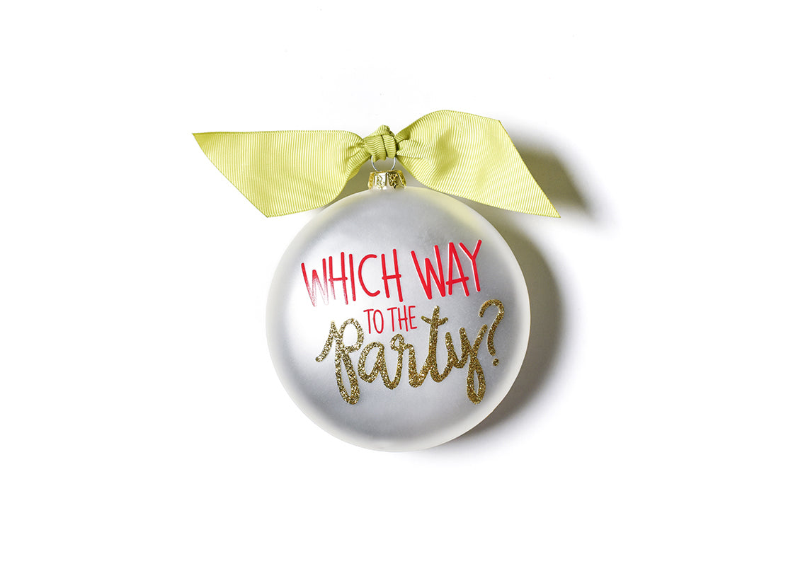 Limited Edition 2020 Ornament Party Glass Ornament