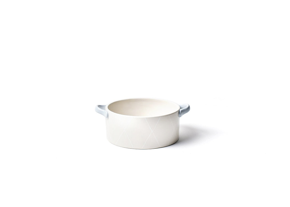 Neutral Nouveau Small Round Casserole