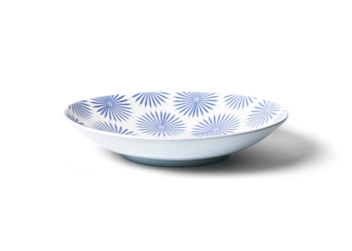 Iris Blue Burst Large Pasta Bowl