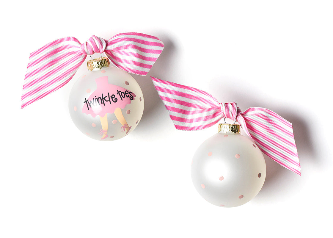 Twinkle Toes Ballet Glass Ornament