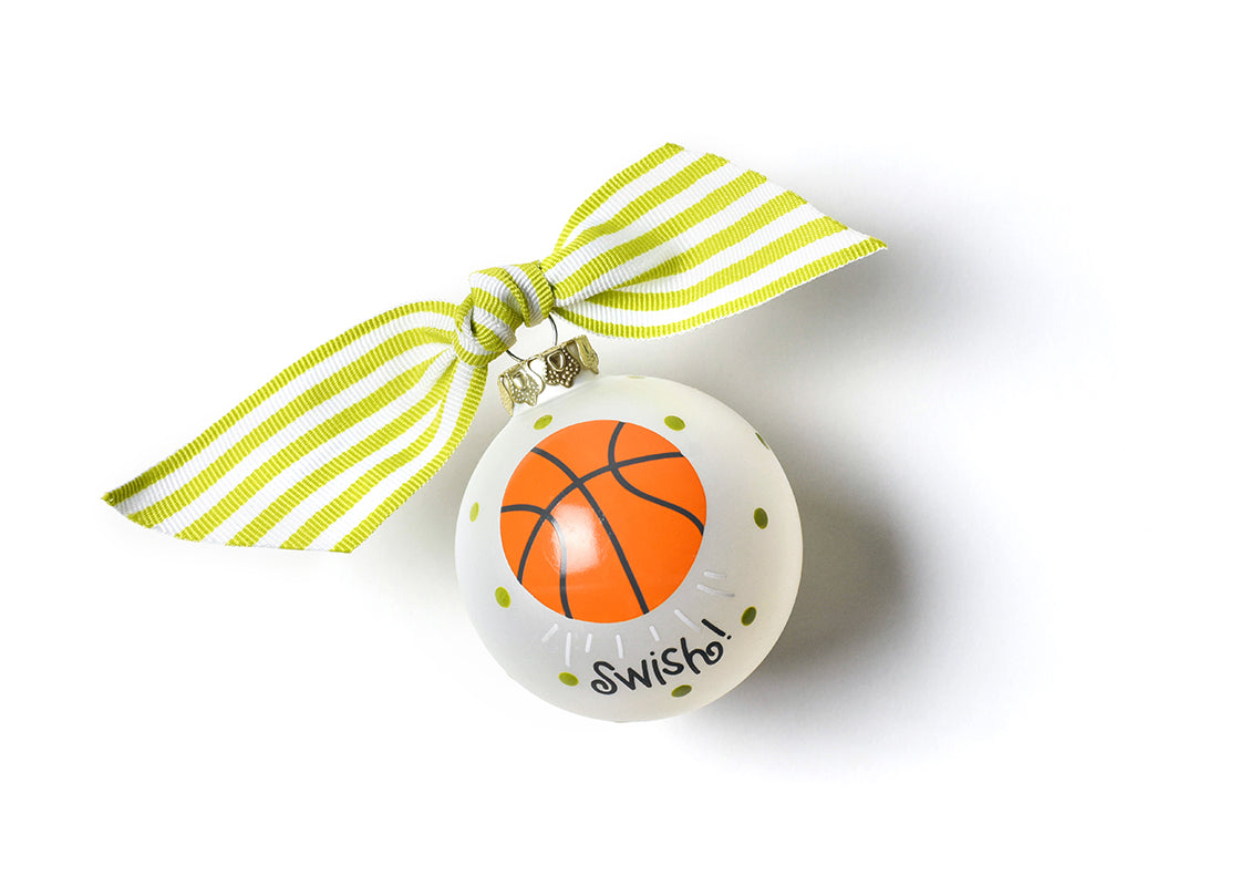 Basketball Glass Ornament