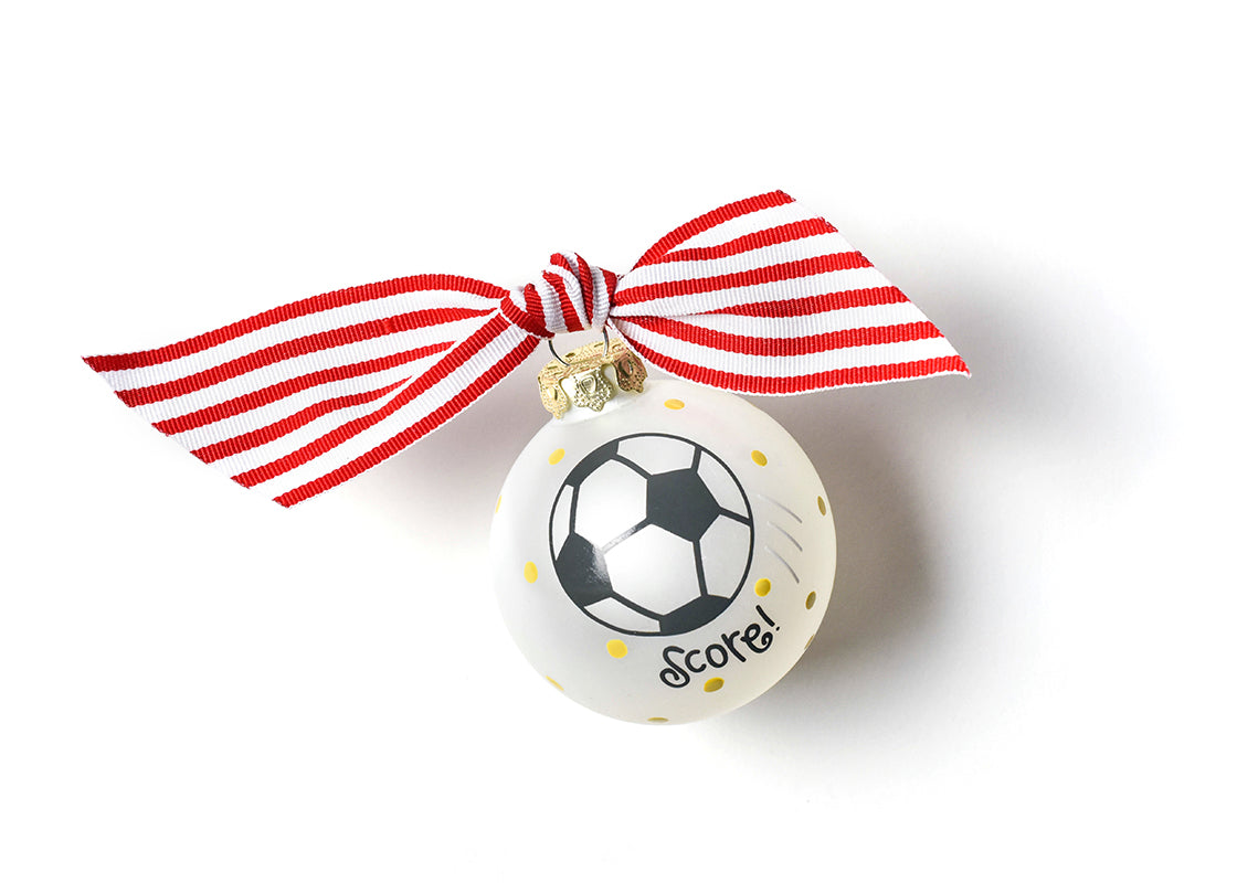 Soccer Glass Ornament