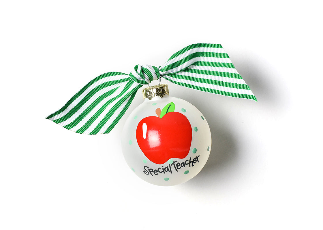 Special Teacher Glass Ornament