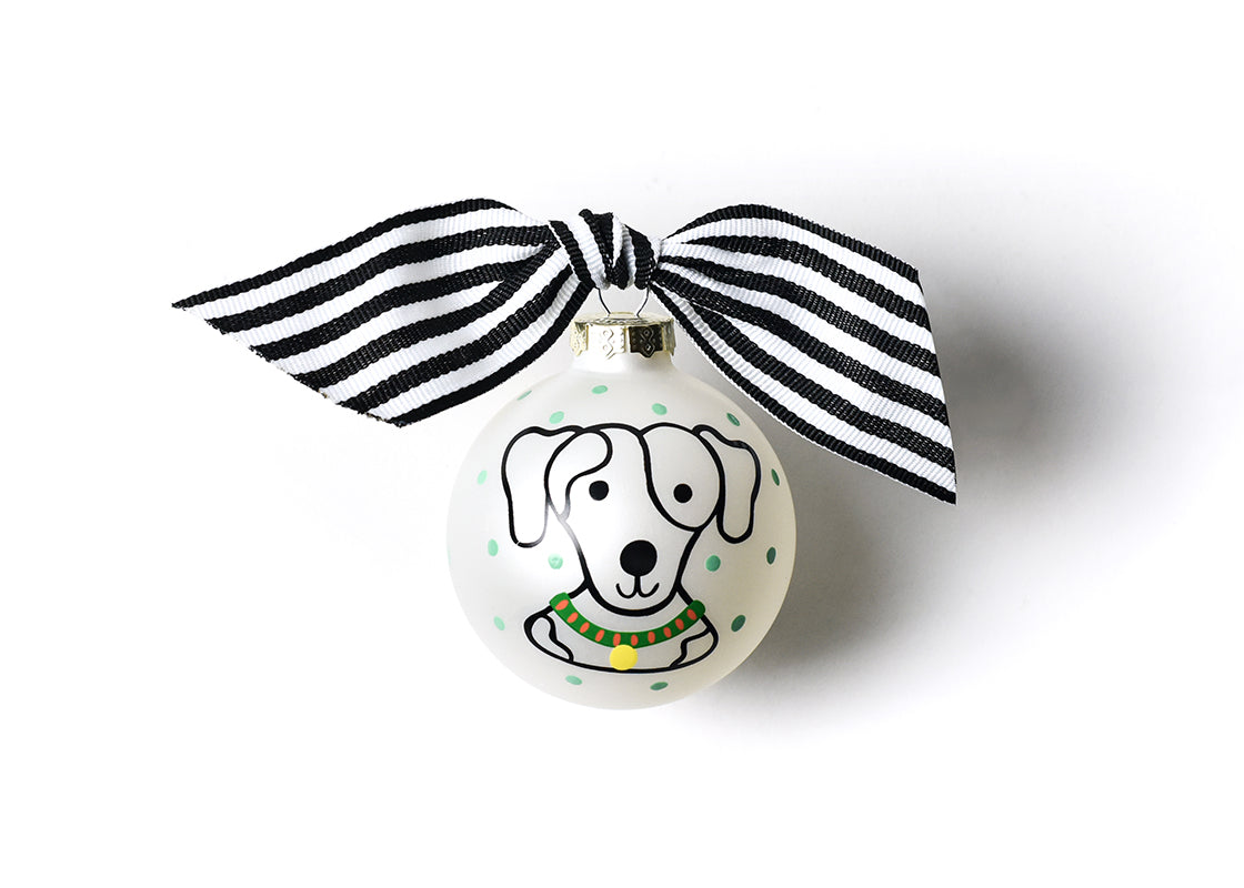 Pet Portrait Glass Ornament - Spotty