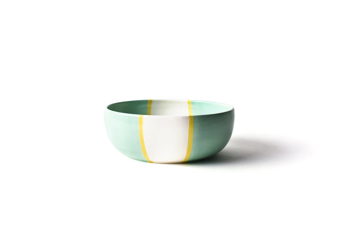 Mint Color Block Small Dog Bowl