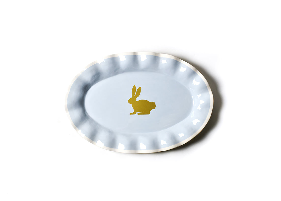 Smoke Rabbit Oval Platter
