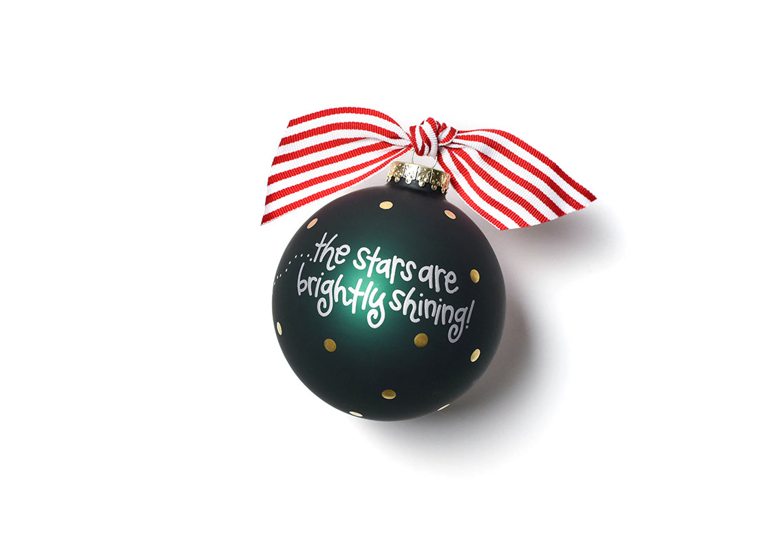 Oh Holy Night Glass Ornament