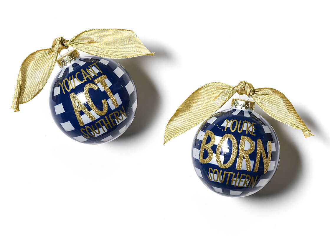Born Southern Glass Ornament
