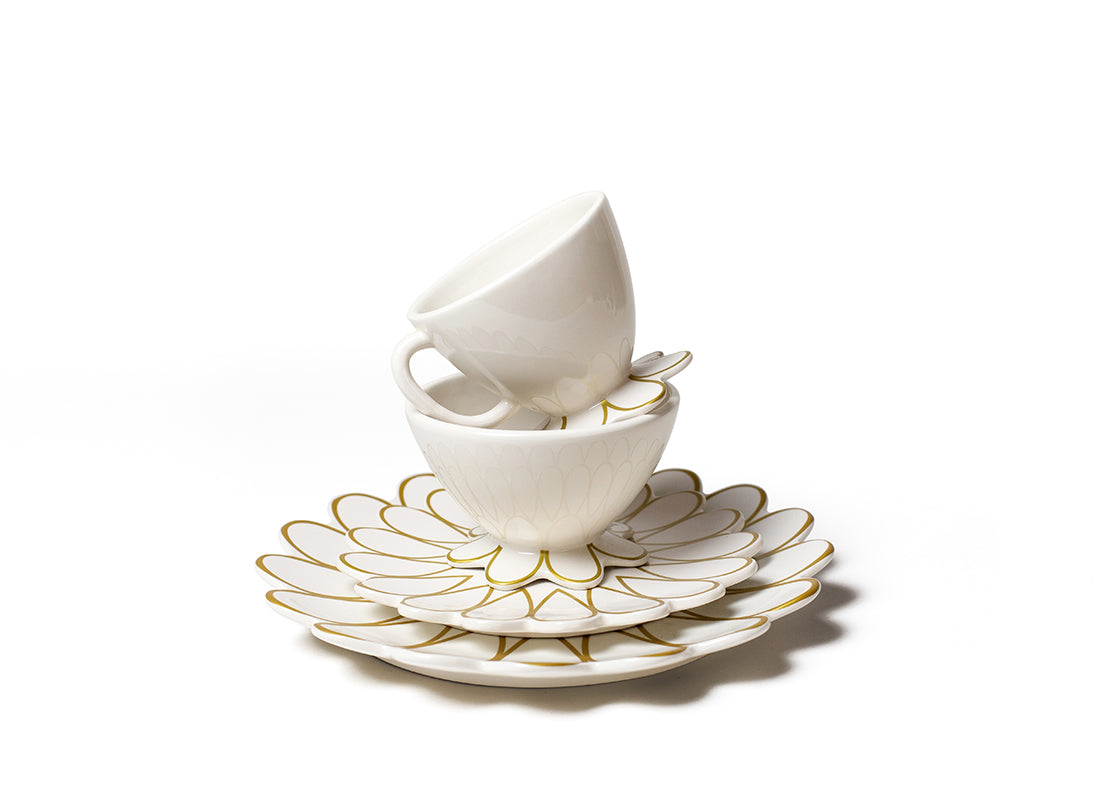 Gold Scallop 4 Piece Place Setting