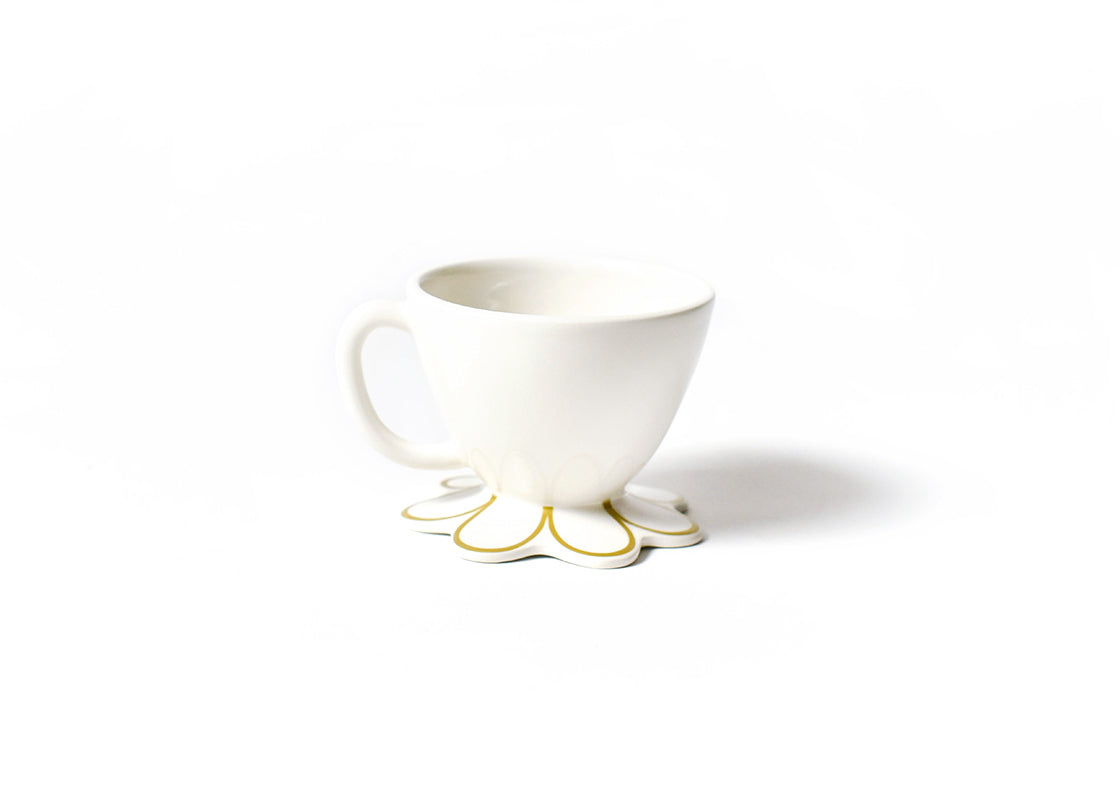 Gold Scallop Mug