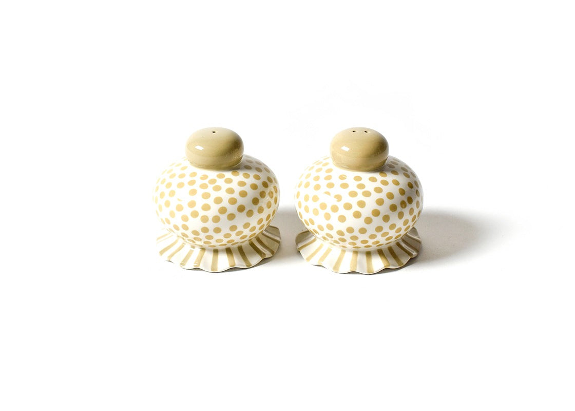 Cobble Small Dot Ruffle Salt And Pepper Shaker Set