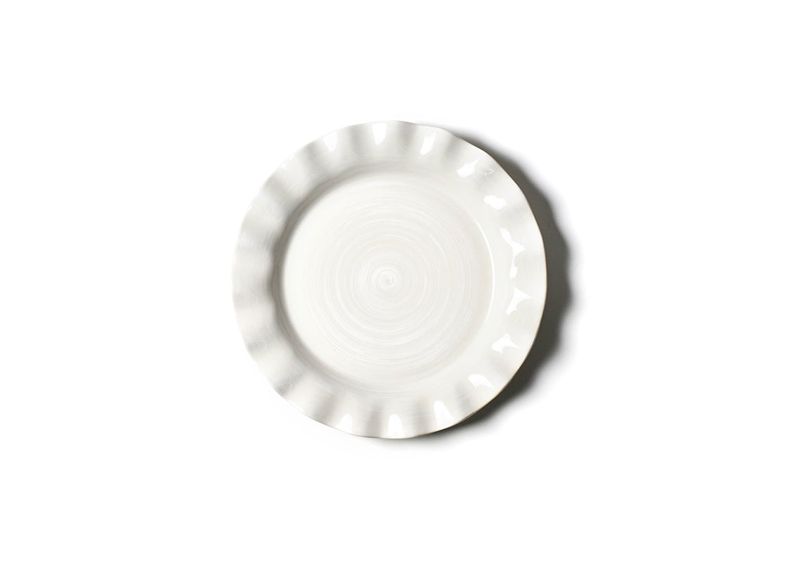 Signature White Ruffle Dinner Plate, Set of 4