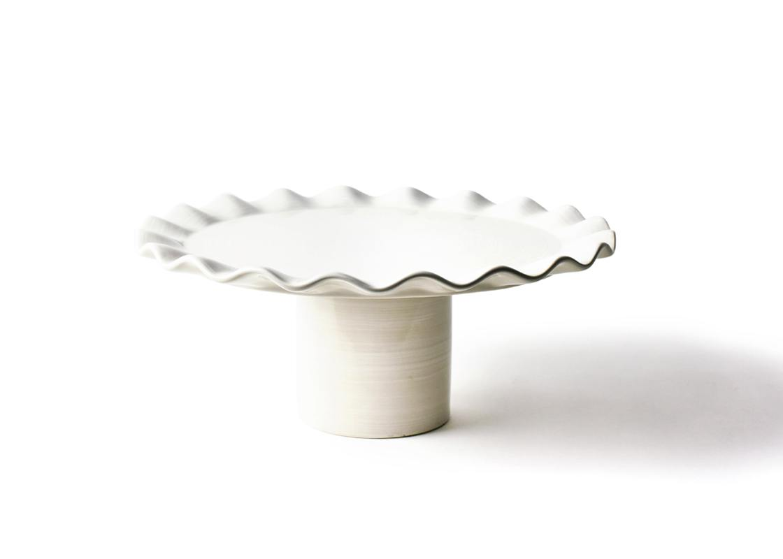 Signature White Ruffle 14in Cake Stand
