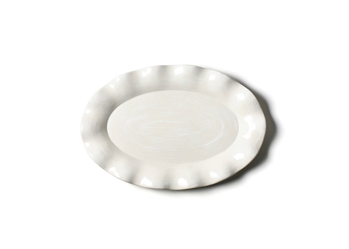 Signature White Oval Platter