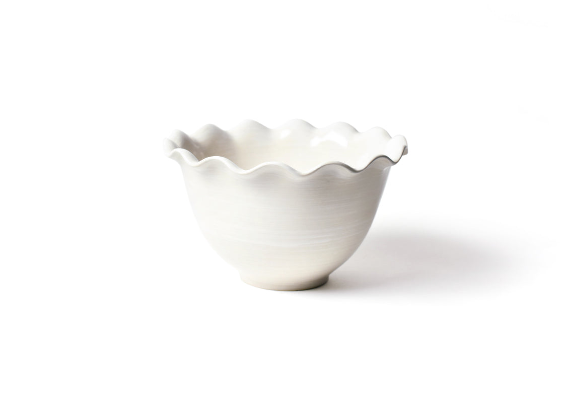Signature White 9in Ruffle Bowl