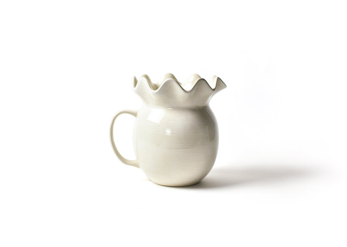Signature White Ruffle Pitcher