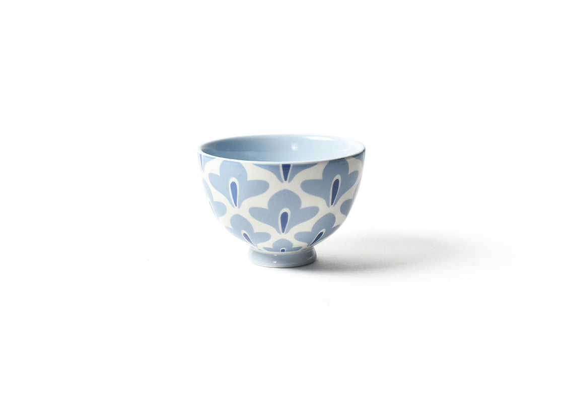 "Iris Blue Sprout 6"" Footed Bowl"
