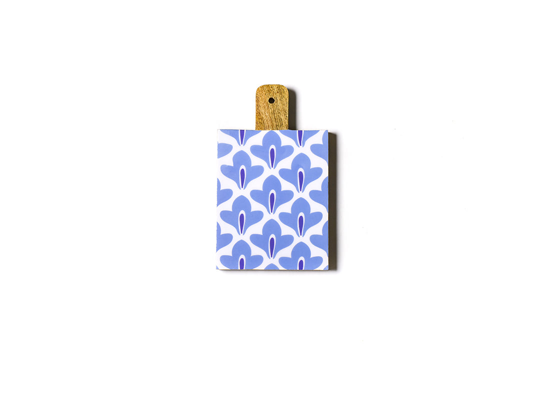 Iris Blue Sprout Mango Wood Small Rectangle Board