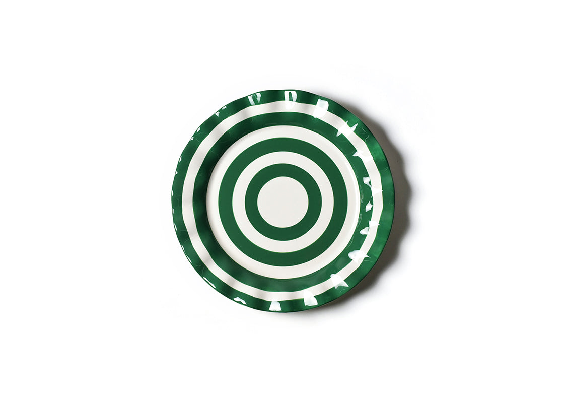 Emerald Spot On Ruffle Dinner Plate