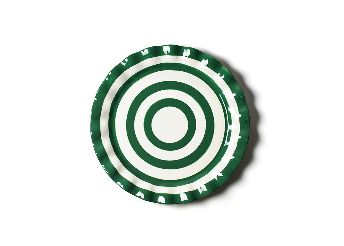 Emerald Spot On Ruffle Round Platter