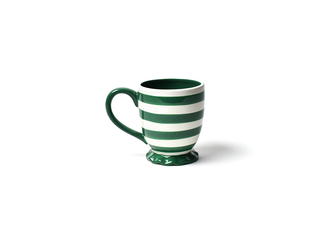 Emerald Spot On Ruffle Mug