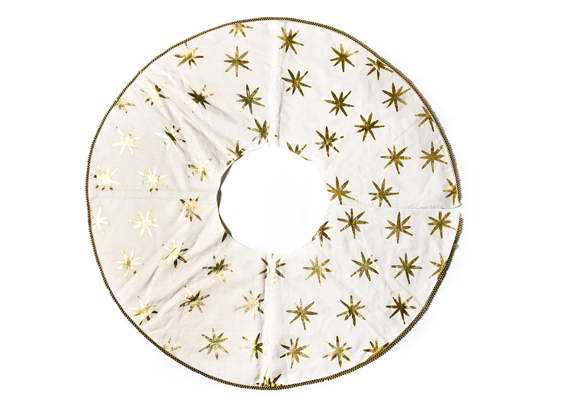 Gold Star Tree Skirt