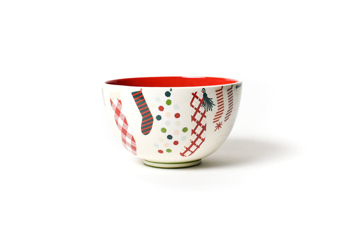"Stockings 9"" Footed Bowl"