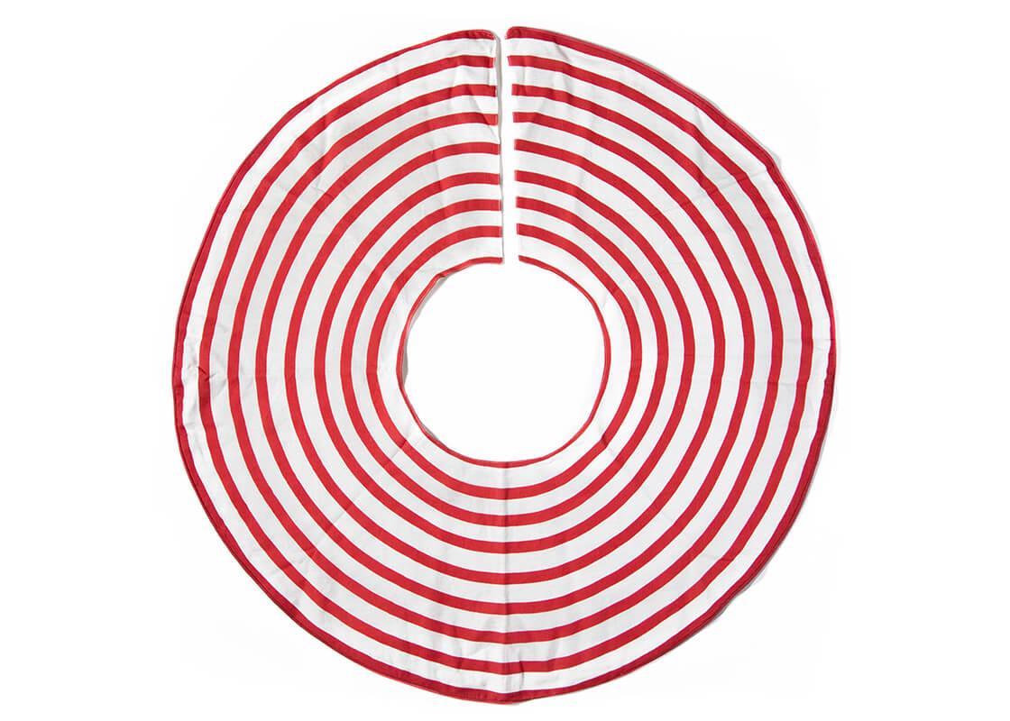 Red Stripe Tree Skirt