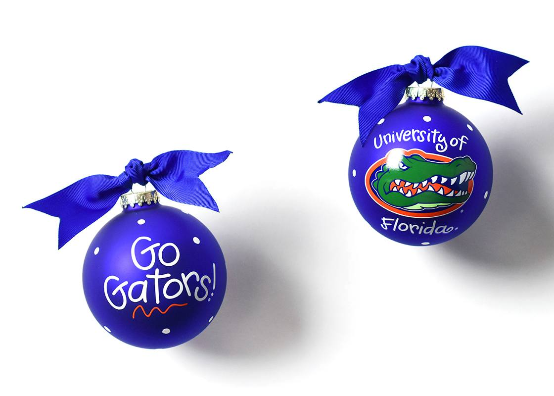 Florida Mascot Glass Ornament