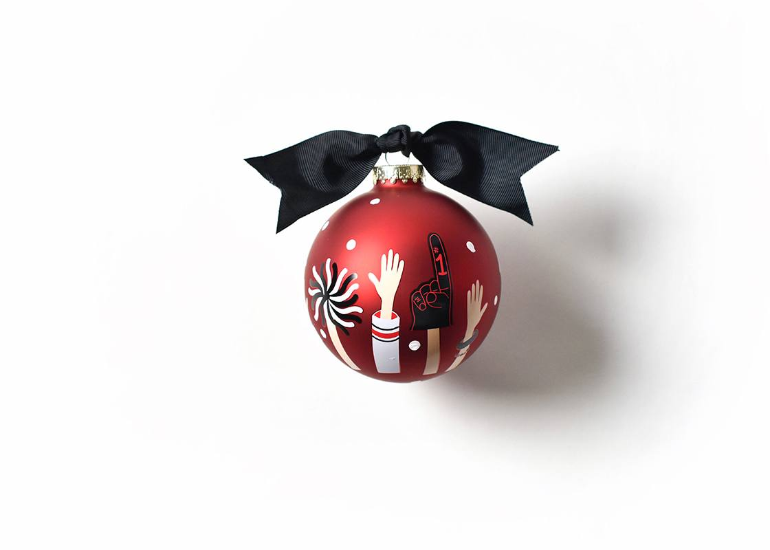 Georgia Crowd Cheer Glass Ornament