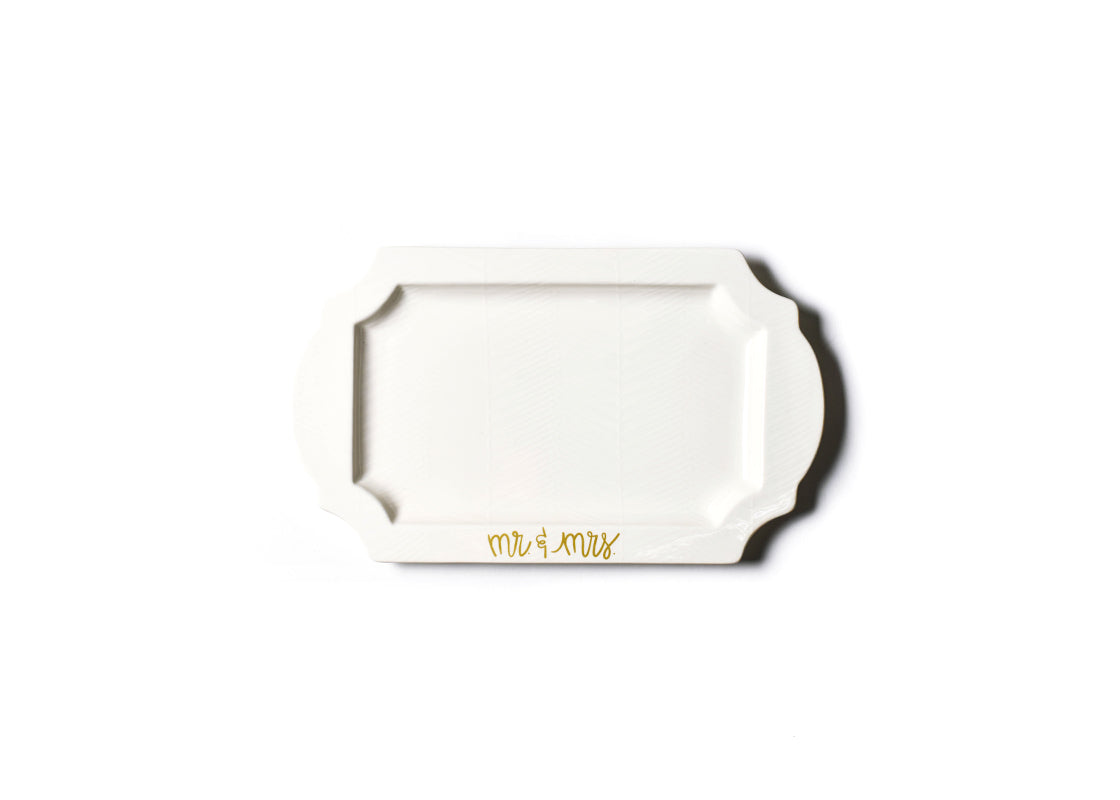 White Mr. and Mrs. Traditional Tray